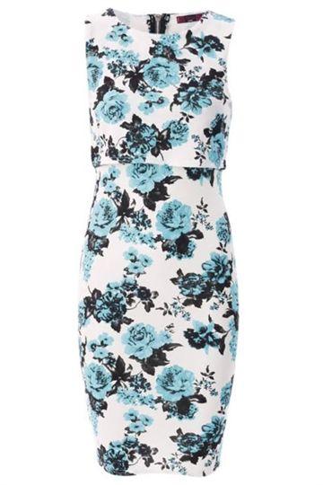 Sommerkjole  - Floral Blue
