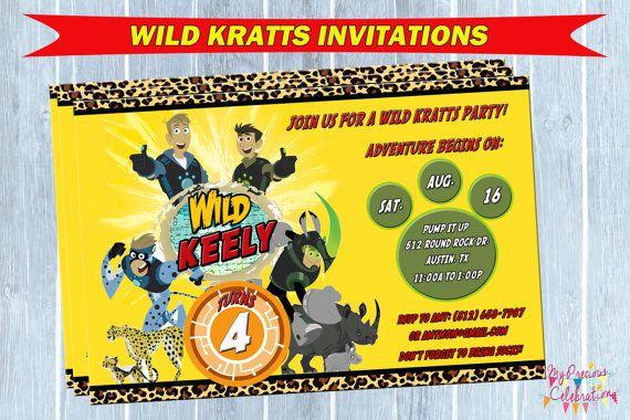 Wild Kratts Birthday Invitation wild by PreciousCelebration, $9.99