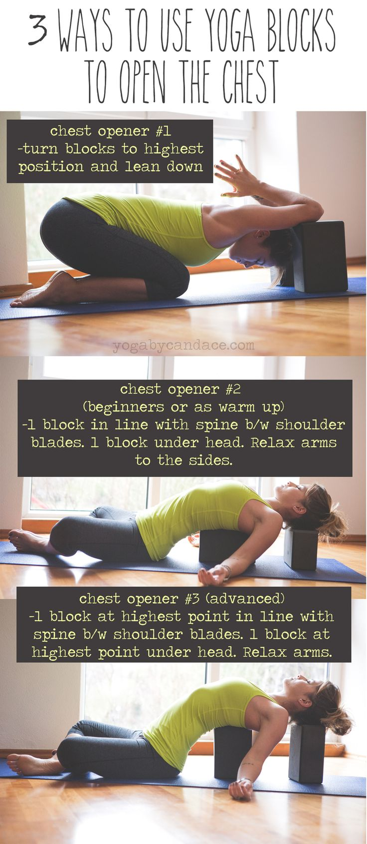 Pin now, practice later!  Wearing: Zella leggings, lululemon tank (similar on sale). Using: Foam blocks (but prefer these)