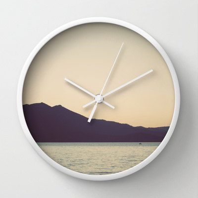 Wall Clock Lake Tahoe 10 inch Clock Lake Sunset by StudioClaire, $45.00