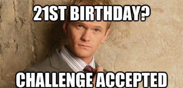 Pin On Happy 21st Birthday Meme