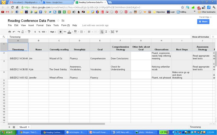 Think * Share * Teach: Give Your Anecdotal Records a Face Lift with Google Forms