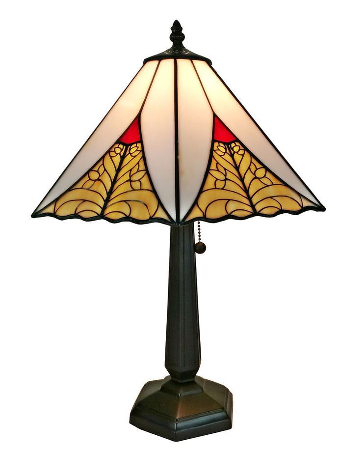 Amora Lighting Tiffany Style Mission Table Lamp 20 In Red Yellow AM258TL14 #AmoraLighting #StainedGlass