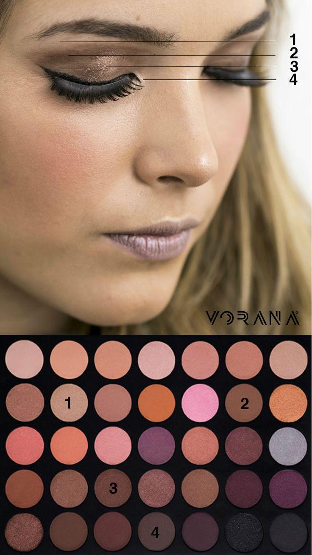 Logra este look con ayuda de la 35W de Morphe Brushes  #Sombras #Ojos #Look