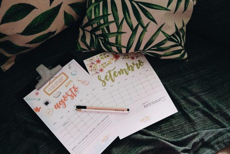Planner para agosto e setembro de 2017