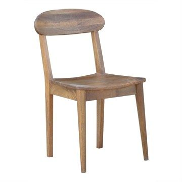 Stuart Solid Mango Wood Timber Dining Chair
