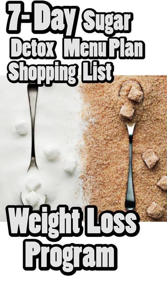 7- Day Sugar Detox Menu Plan + Shopping List – Weight Loss Program