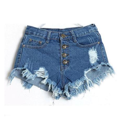 4941832ae92e Denim Shorts Women 2018 Fashion Ladies Tassel Hole High Waist Summer Short  Jeans Sexy Mini Booty
