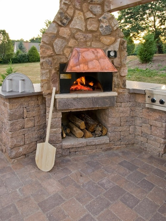 traditional indoor wood fired pizza oven design pictures