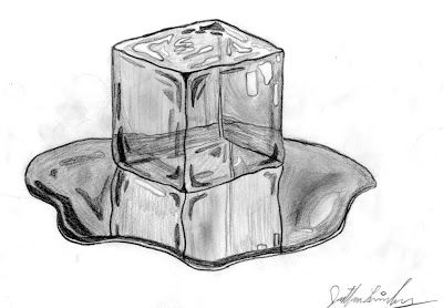 something in a melting ice cube drawing - Google Search