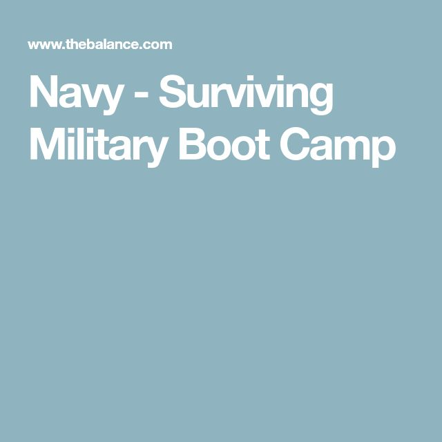 Navy - Surviving Military Boot Camp