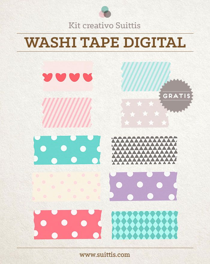 Nuevo kit creativo: Washi Tape Digital Gratuito | http://www.suittis.com/nuevo-kit-creativo-washi-tape-digital-gratuito/