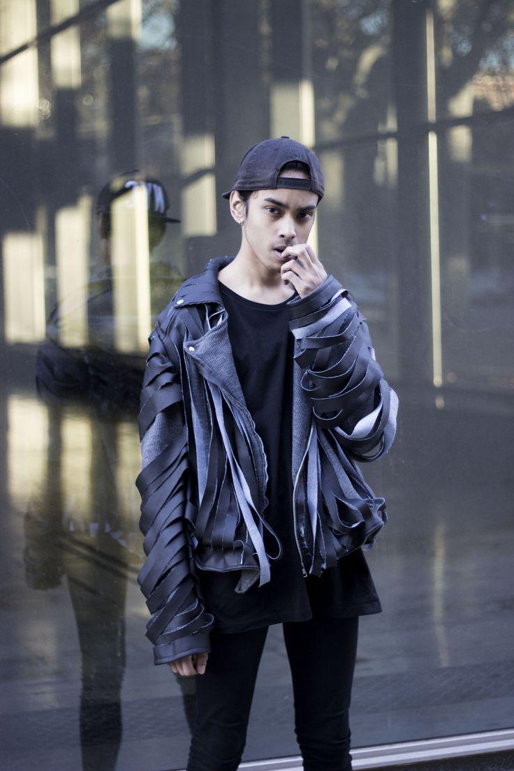 Punched perfecto jacket Model: Albert Santana Designer: Sandra Miralles
