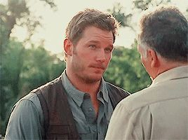 Chris Pratt as Owen Grady Jurassic world.