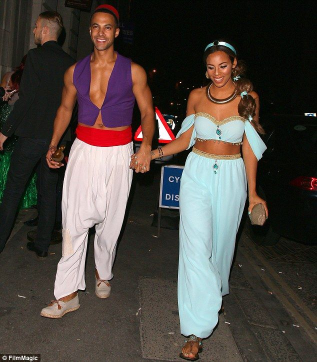 Jasmine Halloween Costume. Making an entrance: Birthday girl Rochelle looked stunning as Princess Jasmine in pale blu...