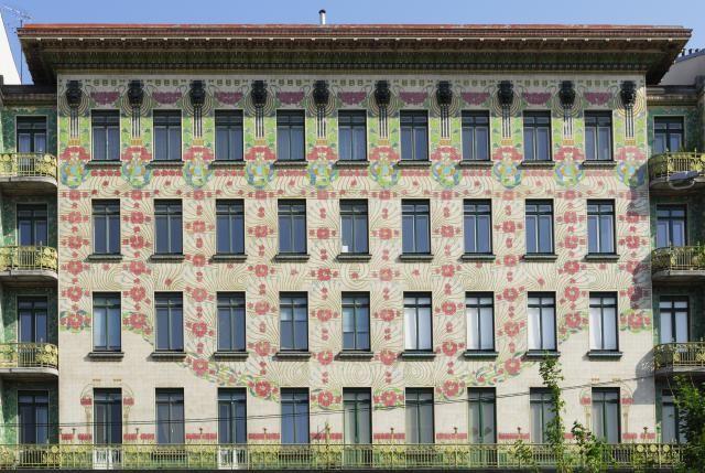 Majilikhaus 1898-99 Otto Wagner Wiedeń