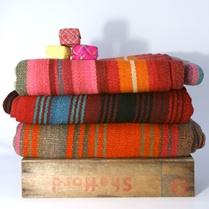 Vintage stripey blankets