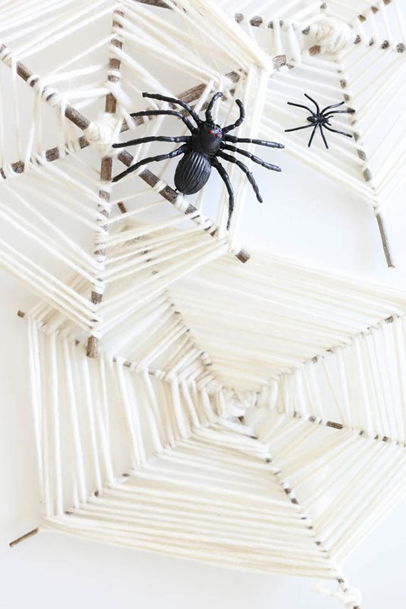 DIY spider web craft for kids