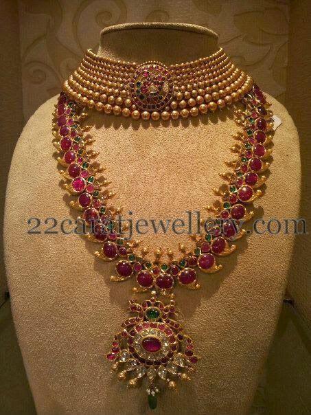 Jewellery Designs: Paisley Design Burmeses Ruby Mala