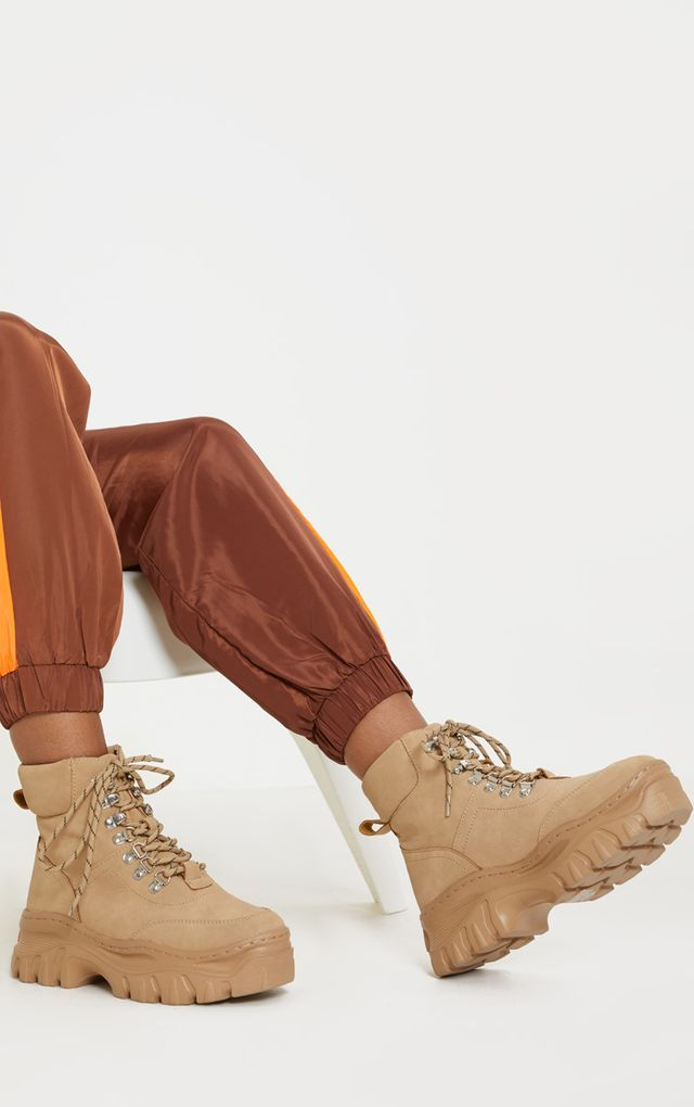 Sand Chunky Sole Hiker Boot | Boots