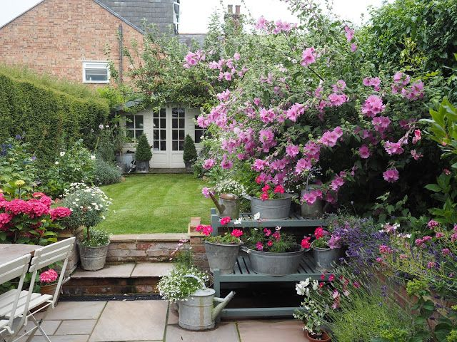 English cottage garden country pink Roses and Rolltops : The Best Victoria Sponge Cake and a Little Tea Party for Grandma...