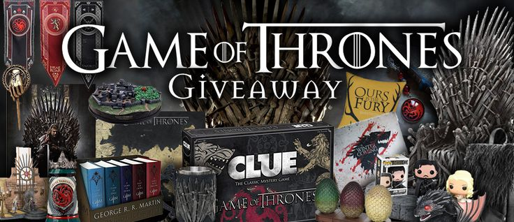 This MASSIVE #GameofThrones #Giveaway has 16 Envy-Worthy Prizes! #GOT
