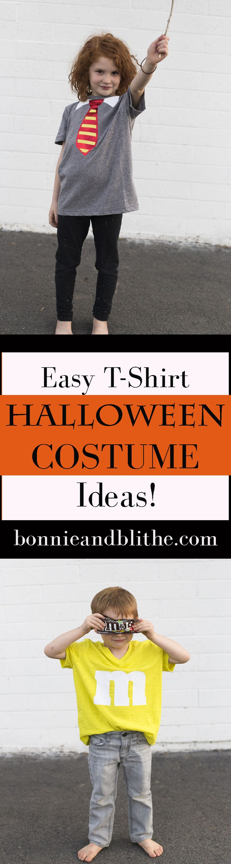Need a last minute Halloween costume or festive tee?  Use these ideas and your cricut machine to make cute Halloween outfits in just 30 minutes or less!  The perfect no-sew costume alternative.