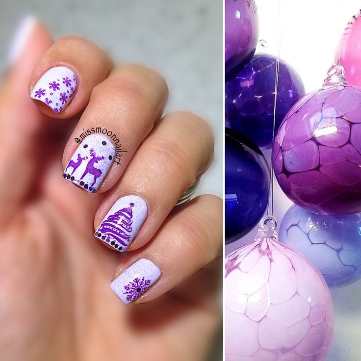 Magical Christmas #nailart #nailpolish #nailartdesign #nailpolishaddict #christmasnails #christmas2016 #purplechristmas #purplechristmasnails #nailstamping #bornprettystore #xmasnails #lovemynails #adornnails #allaboutnailsofficial #nails2inspire #inspirationnails #december2016 #readyforchristmas #christmasishere #fashionnails