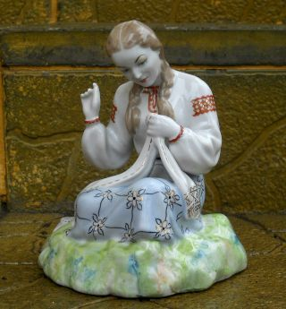Soviet Russian Ukrainian Porcelain Figurine