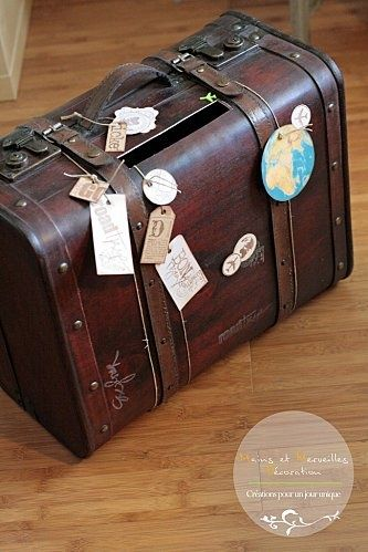mariage thme voyage - Urne Mariage Valise