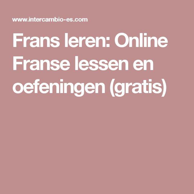 Frans leren: Online Franse lessen en oefeningen (gratis)