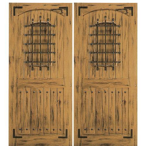 AAW Inc. SW 78 2 Western/Santa Fe Double Door, Knotty