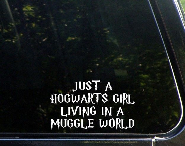 A laptop decal with your favorite words to sing at karaoke night. | 35 Awesome And Inexpensive Harry Potter Gifts