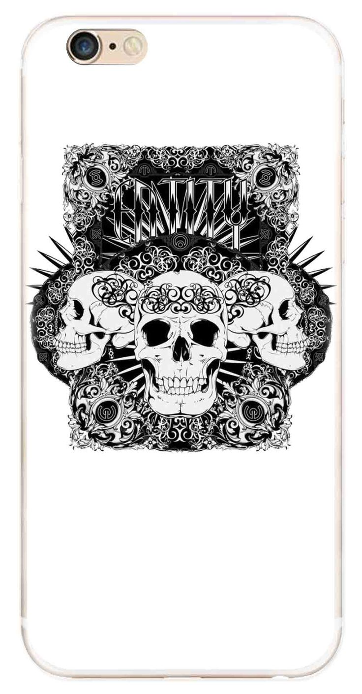 Whatskin DIY Style Skull Heads Series 08 Clear Back Cover for iphone 6