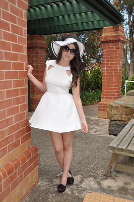 c6c6b029e77 White Fit   Flare Dress  cutout  cocktaildress  partydress