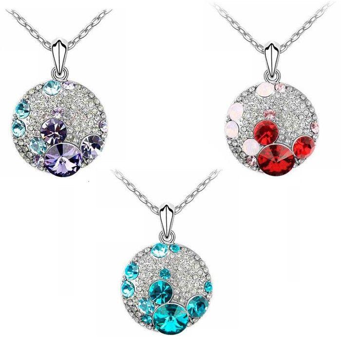 Temukan dan dapatkan Kalung Swarovski Crystal Elements Lapis Emas Putih hanya Rp 200.000 di Shopee sekarang juga!…