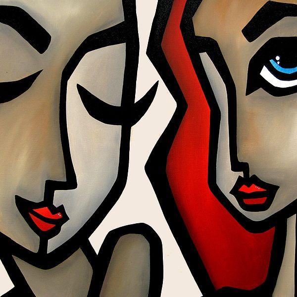 Confide Painting by Tom Fedro - Fidostudio
