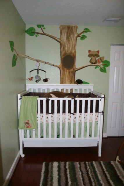 woodland nursery,I think this woodland would be great because it's good for boys and girls...which we plan on having both.