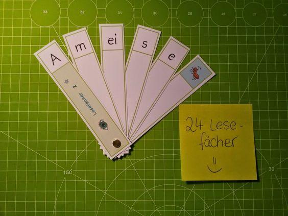 lesen lernen lesefächer http://fraulocke-grundschultante.blogspot.de/2014/07/24-lesefacher.html?spref=pi