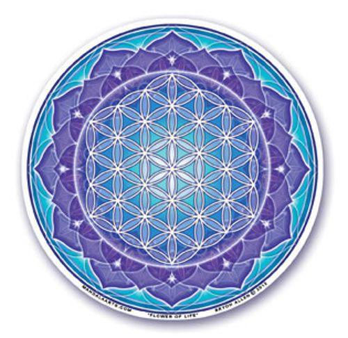 Mandala Arts Window Sticker Double Sided Meditation Lotus 11.7cm