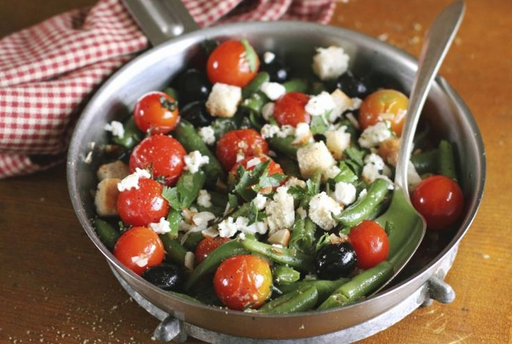 Roasted Green Bean, Tomato, and Feta Salad Recipe by Bridget Creel - The Daily Meal