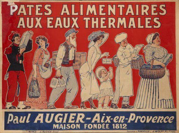 Pâtes alimentaires aux eaux thermales Paul Augier - Aix-en-Provence - 1910's -