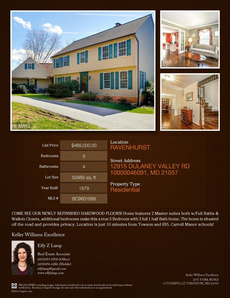 12915 Dulaney Valley Road, Glen Arm, MD 21057 Call Effy For More Info @