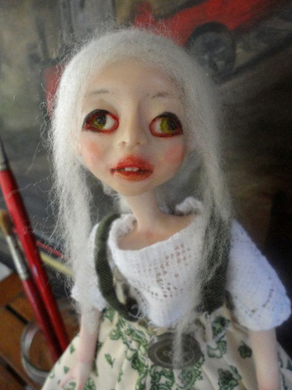 OCTOBER ARTIST, Talented Girl,Ooak Doll,Art Doll