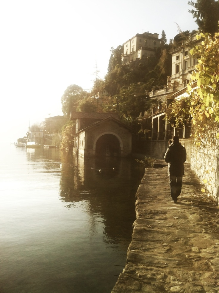 Lago d'Orta - tramonto. Think of a vacation at Villa San Giulio, Lake Orta, less known but so very beautiful. http://www.italian-itineraries.com/item/villa-san-giulio