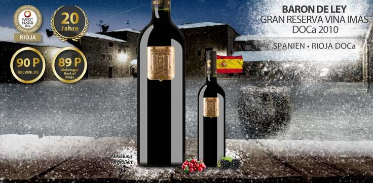 """AdventSale#20: Baron de Ley Gran Reserva """"Vina Imas"""" Rioja DOCa 2010 - http://weinblog.belvini.de/baron-de-ley-gran-reserva-vina-imas-rioja-doca-2010"""