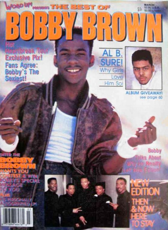 Throwback Bobby Brown covers word up magazine