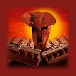 Chocolate and elephants. What's not to like?