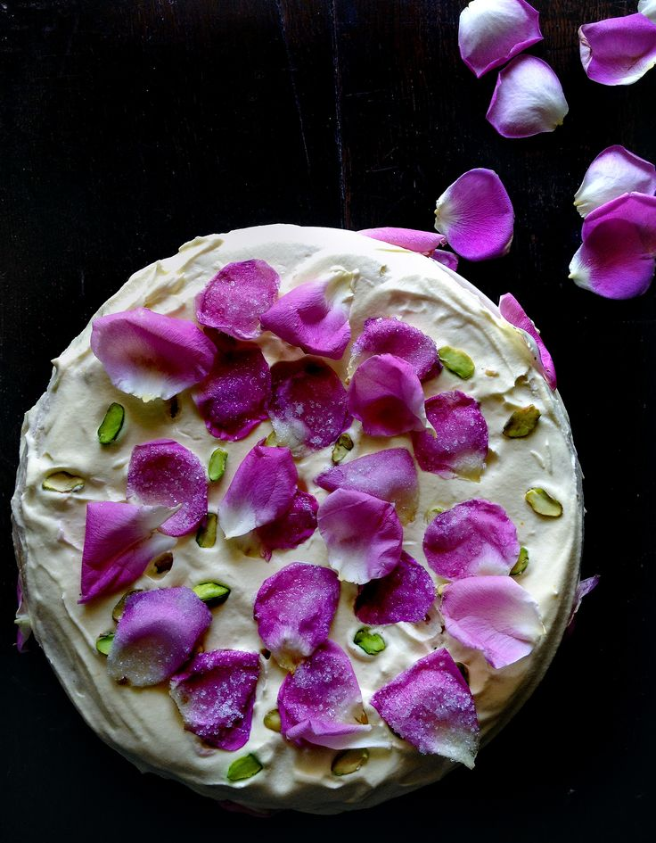 ... rose water, rose petals, saffron and whipped cream. Maybe I'll try