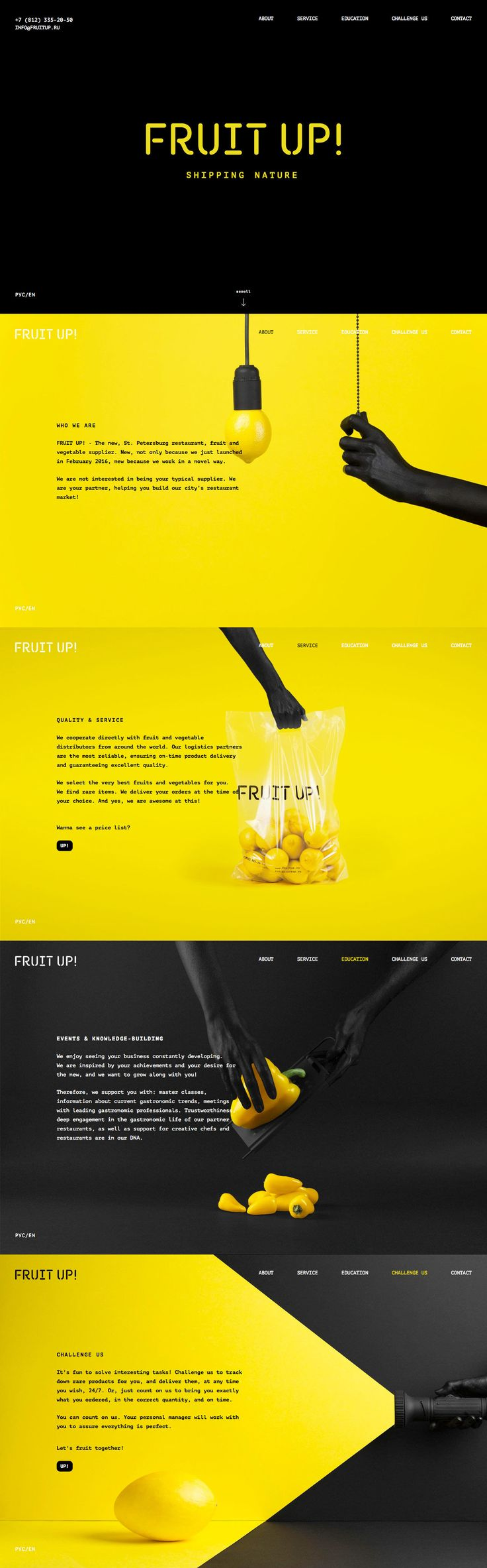 FRUIT UP! (More web design inspiration at topdesigninspiration.com) #design #web…